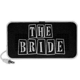 B&W Retro Stamp - The Bride iPod Speaker