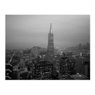 B&W San Francisco Downtown Postcard
