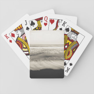 B&W seascape, Hawaii Poker Deck