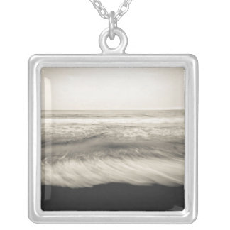 B&W seascape, Hawaii Silver Plated Necklace