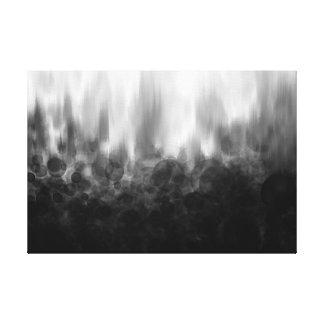 B&W Spotted Blur - Canvas Print