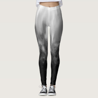 B&W Spotted Blur - Leggings