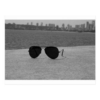 B&W Sunglasses & Mumbai Postcard