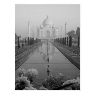 B&W Taj Mahal Postcard