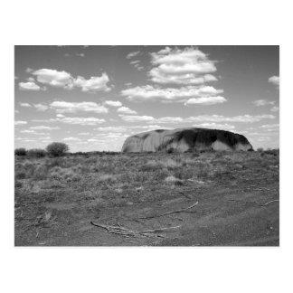 B&W Uluru 2 Postcard