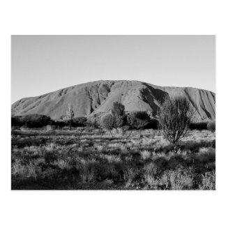 B&W Uluru 3 Postcard