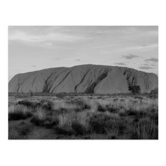B&W Uluru Postcard