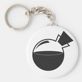 B&W Vial Logo Basic Round Button Keychain
