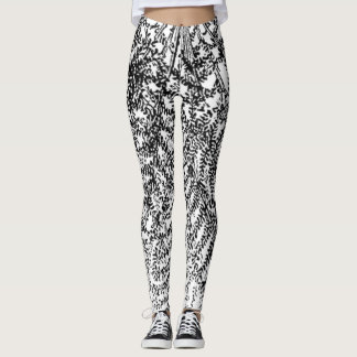 B&W Vines Leggings