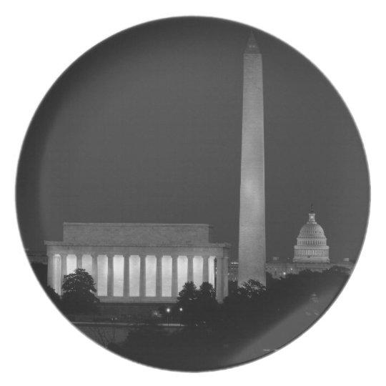 B&W Washington DC 3 Plate