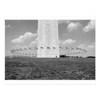 B&W Washington Monument Postcard