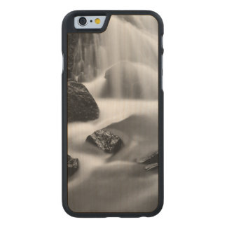 B&W waterfall, California Carved Maple iPhone 6 Case
