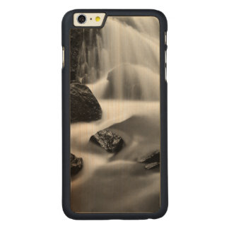 B&W waterfall, California Carved® Maple iPhone 6 Plus Case