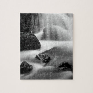 B&W waterfall, California Jigsaw Puzzle
