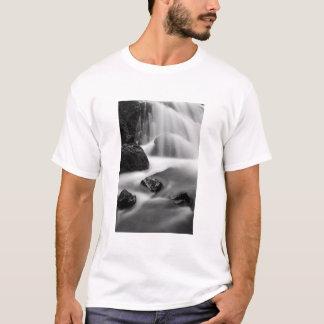 B&W waterfall, California T-Shirt