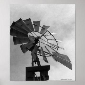 B&W Windmill Poster