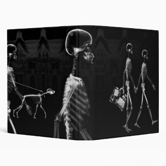 B&W X-Ray Skeletons Midnight Stroll Binder