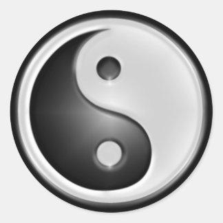 B&W Yin&Yang Classic Round Sticker