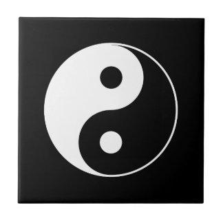 B & W Yin Yang Symbol Tile