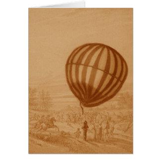 BA02285FAC01Z-First Manned Gas Balloon Flight Land Card