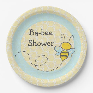 Ba-Bee Baby Shower Bumble Paper Plates