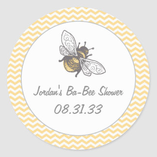 Ba-Bee Honey Bee Shower Classic Round Sticker