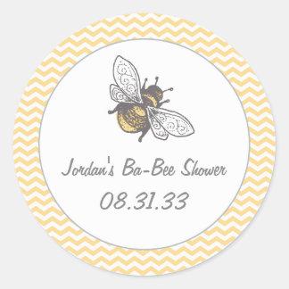 Ba-Bee Honey Bee Shower Round Sticker