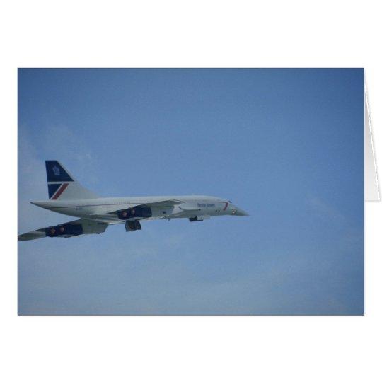 BA Concorde, take-off, Heathrow Card