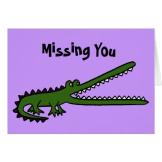BA- Missing You Croc Card