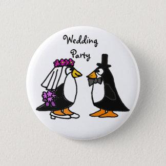 BA- Penguin Wedding Party Buttons