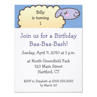 Baa-Baa Birthday Bash Invitations - 4.25 in