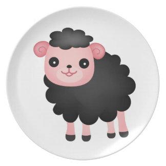 Baa Baa Black Sheep Dinner Plates