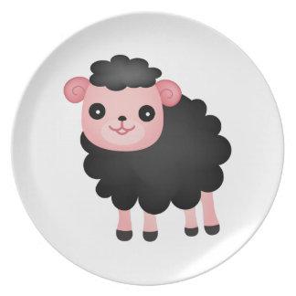 Baa Baa Black Sheep Plates