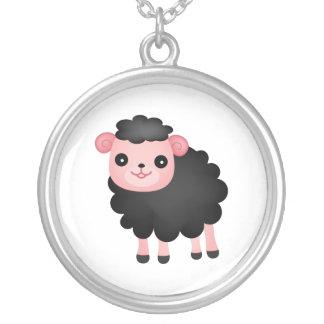 Baa Baa Black Sheep Silver Plated Necklace