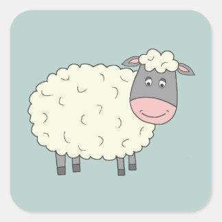 Baa Baa Sheep Square Sticker