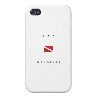 Baa Maldives Scuba Dive Flag iPhone 4 Covers