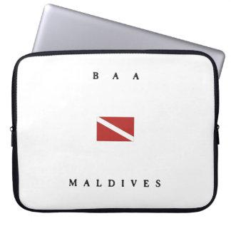 Baa Maldives Scuba Dive Flag Laptop Computer Sleeve