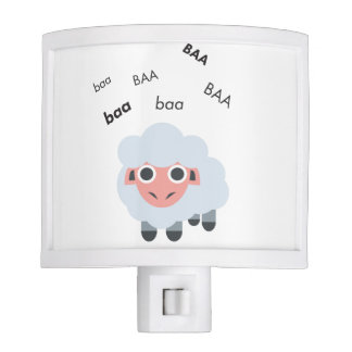 Baa Sheep Cute Emoji Nite Light