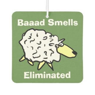 Baaad Smells Eliminated Sheep Cartoon Car Air Freshener