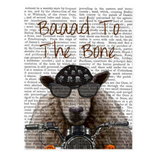 Baaad To the Bone Postcard