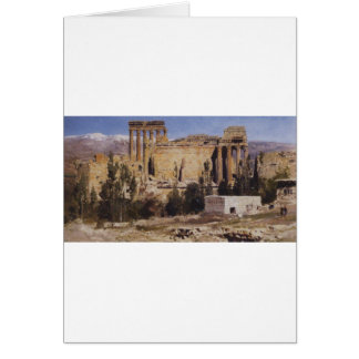 Baalbek. Ruins of Jupiter Cathedral and Cathedral Card