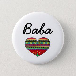 Baba Love Ukrainian Folk Art 2 Inch Round Button
