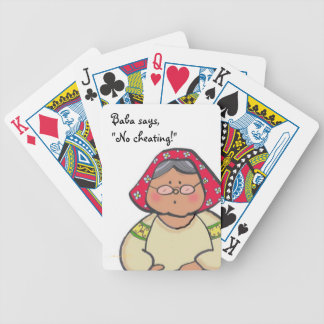 Baba Says Ukrainian Folk Art Bicycle Playing Cards