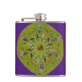 Baba Yaga Mandala Flasks