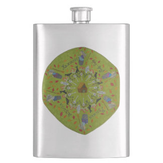 Baba Yaga Mandala Hip Flask