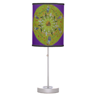 Baba Yaga Mandala Table Lamp