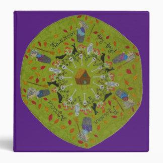 Baba Yaga Mandala Vinyl Binder