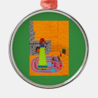 Baba Yaga Silver-Colored Round Ornament