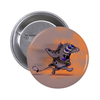 BABABA CUTE DOGGY ALIEN MONSTER SMALL BUTTON 2¼ In