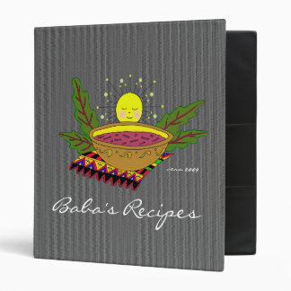Baba's Recipes Binders